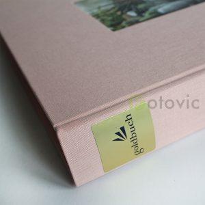 Фотоальбом Goldbuch 27722 Лен Розовый 60 белых страниц 26х30