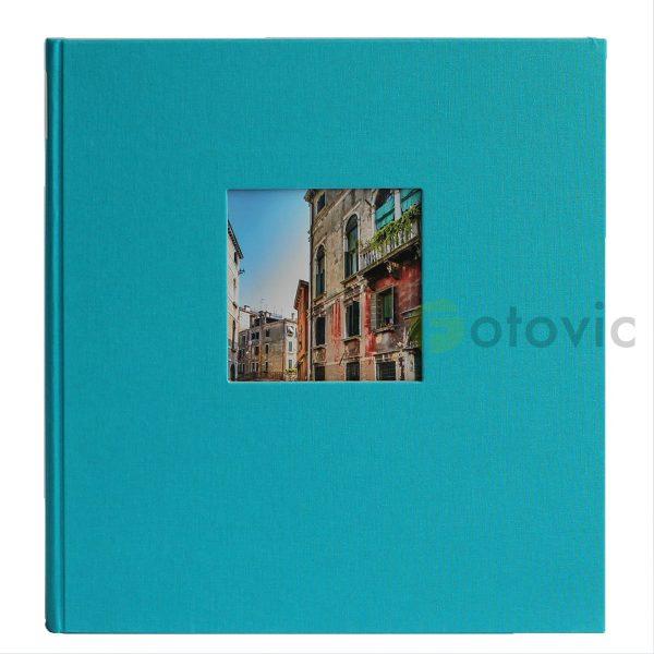 Фотоальбом Goldbuch 27973 Голубой, Бирюзовый  60 черных страниц 26х30