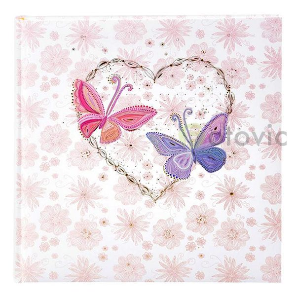 Фотоальбом Goldbuch 8165 Сердце с бабочками 60 белых страниц 26х30