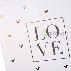 Фотоальбом Goldbuch 8173 Золотые сердца 60 белых страниц 26х30