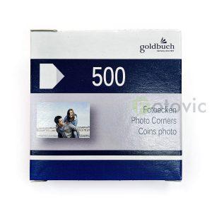 Goldbuch 83094 уголки для фотографий (белая основа)  500шт