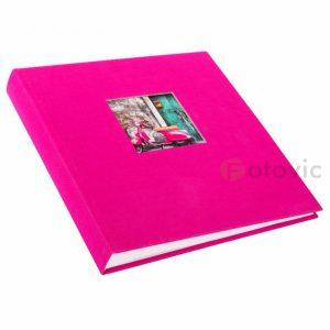 Фотоальбом Goldbuch 27898 темно розовый обложка лен 30х31