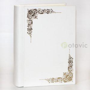 Кожаный фотоальбом Tezoro Торонто белый 80 страниц
